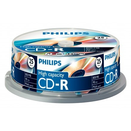 CDs virgens Philips CR8D8NB25/00