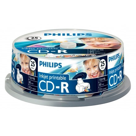 CDs virgens Philips CR7D5JB25/00