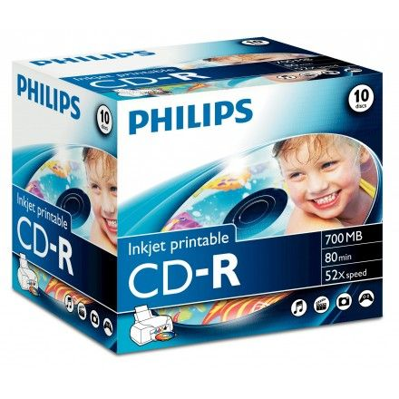 CDs virgens CD-R Philips CR7D5JJ10/00