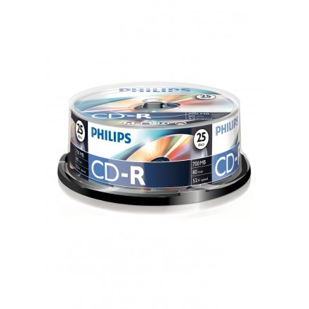 CDs virgens 700MB Philips CR7D5NB25/00