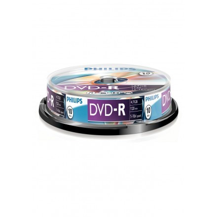 DVDs virgens 4,7GB Philips DM4S6B10F/00