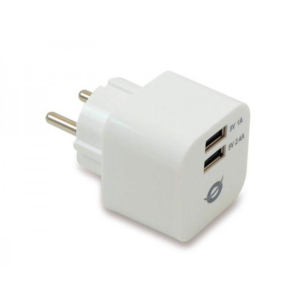 Carregador 2x USB Conceptronic CUSBPWR34A