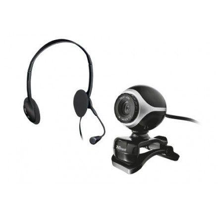 Webcam + auscultadores e micro Trust Exis Chatpack