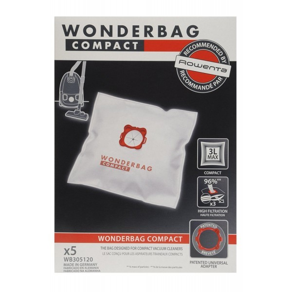 Pack de 5 Sacos de aspirador Rowenta WB305120