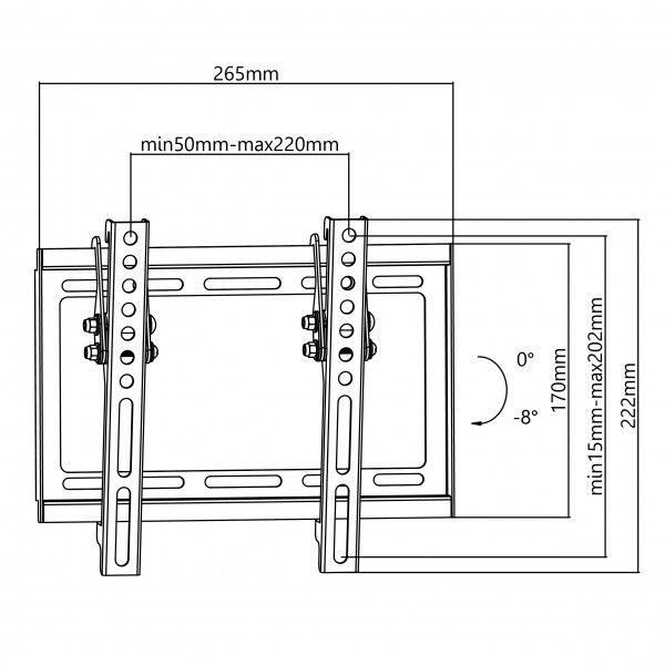 Suporte de parede de ecrãs planos Napofix 030