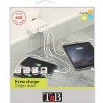 Carregador de dispositivos móveis T'nB CHUSB48WH
