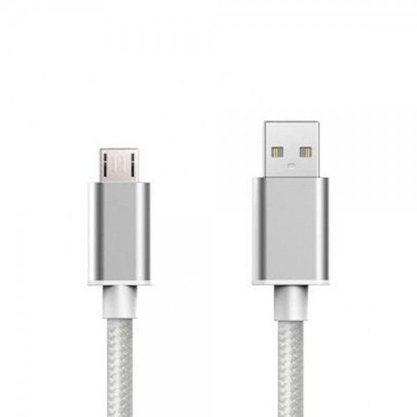 Cabo USB Tech Fuzzion ACECAB0559SI Micro Silver