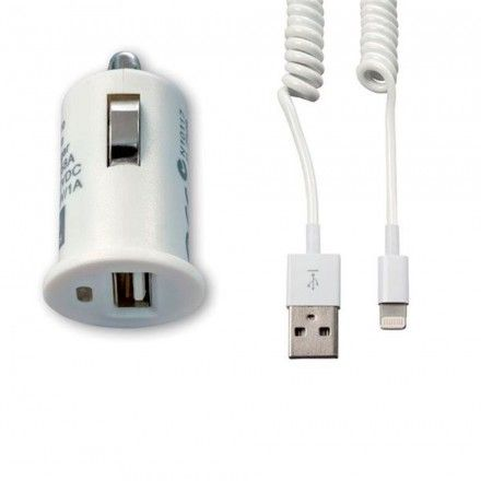 Carregador Carro Tech Fuzzion ACECHA0023WH 12V Cable Wh Iphone 5