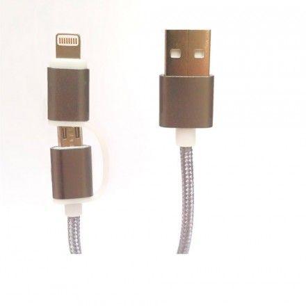 Cabo Telemóvel Tech Fuzzion Lighting / Micro USB Gr