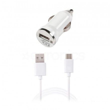 Carregador Isqueiro 12V Tech Fuzzion USB Type-C