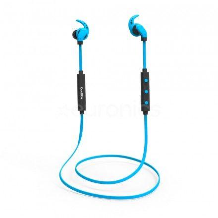 Auriculares Coolbox sem fios Bluetooth c/micro CoolSport Azul