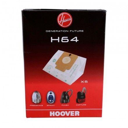 Conjunto de 5 sacos de aspirador Hoover H64