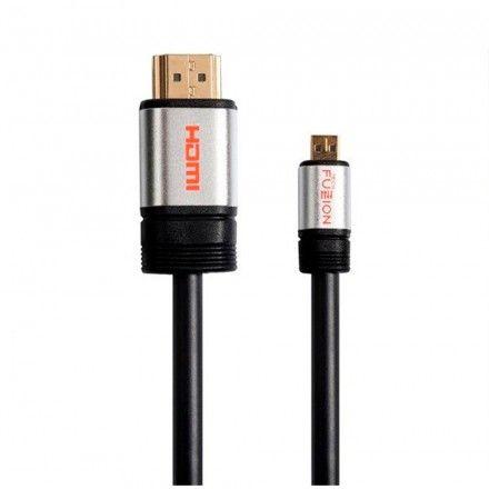 Cabo Micro HDMI para HDMI Tech Fuzzion V1.4 M-M