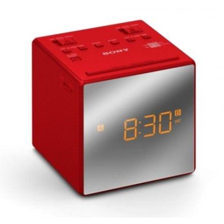 Rádio Sony ICF-C1TR Vermelho