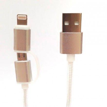Cabo Telemóvel Tech Fuzzion Lighting / Micro USB
