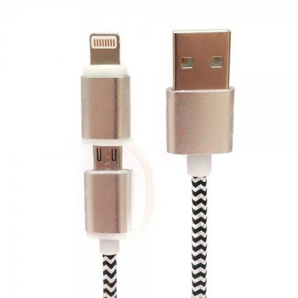 Cabo Telemóvel Lighting / Micro USB Tech Fuzzion