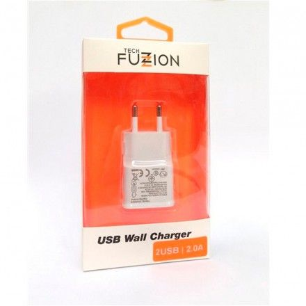 Carregador Tech Fuzzion USB 2A White