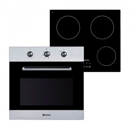 Conjunto Meireles Forno MF 7606 X + Placa MV 1602
