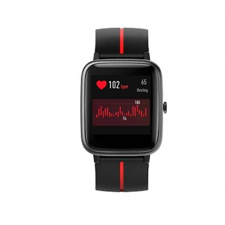 Smartwatch Weeplug Gps Smartfit Relógio Multifunções Gps Integrado (Preto e vermelho)