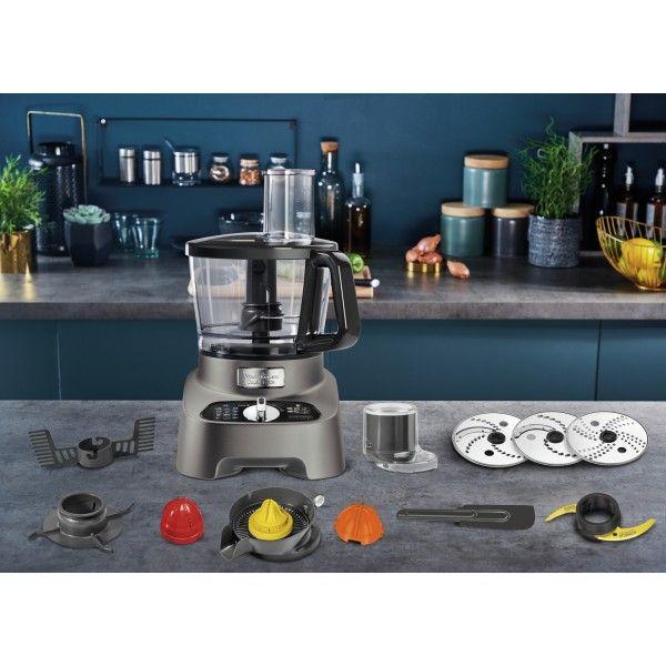 Robô de cozinha Moulinex FP825E10 Double Force Pewter